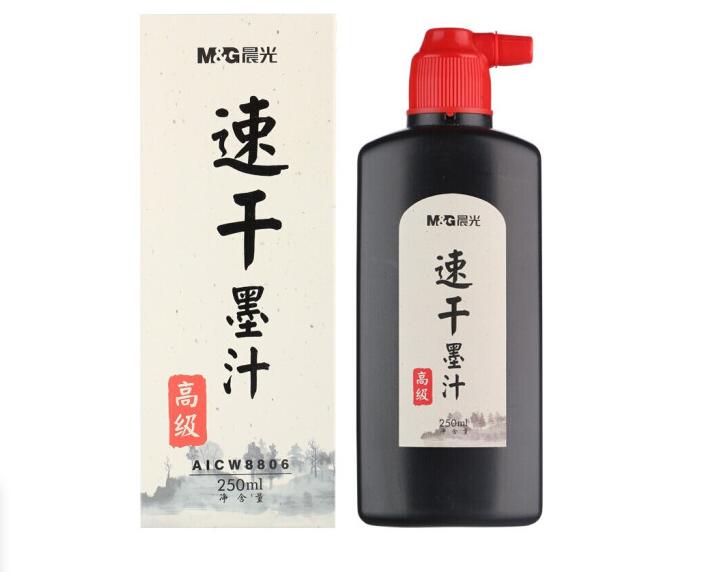 晨光(M&G)速干墨汁 100/250/500ml毛笔墨水书画墨液 练习书法用 250毫升