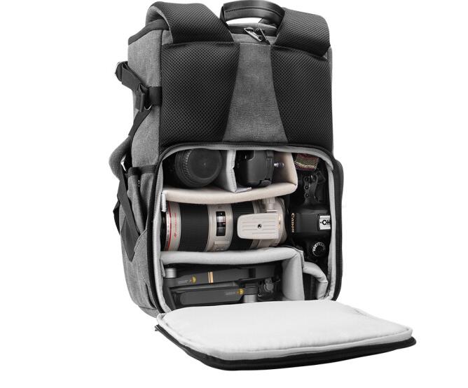 锐玛(EIRMAI)EMB-SD06 单反包相机包双肩摄影包数码帆布防水旅行背包 d90