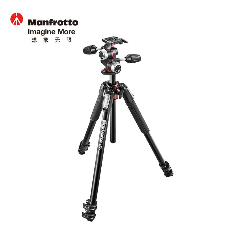 曼富图(Manfrotto)MT190XPRO4 190系列铝合金四节三脚架 90°中轴橫