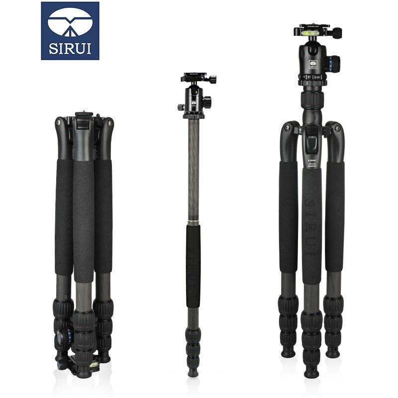 思锐(SIRUI)N-1204SK+K10X碳纤维单反相机三脚架球形云台反折变独脚架套装