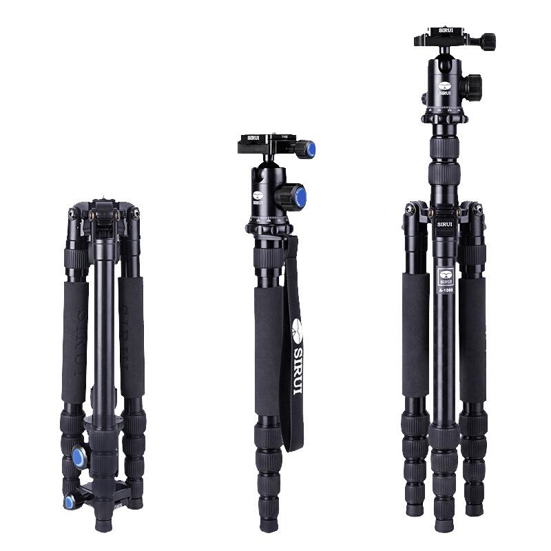思锐A1005+Y10 三脚架含云台单反摄像机三脚架相机尼康佳能索尼摄影三角电影视频录像微