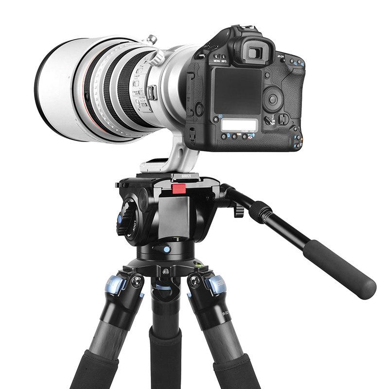思锐(SIRUI)三脚架 R5214X+VH15 碳纤维含云台佳能尼康单反相机三角架 专业