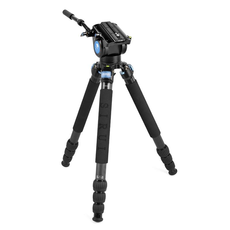 思锐(SIRUI)R-4214X+VH15支架液压云台 碳纤维便携摄影摄像大炮打鸟三脚架