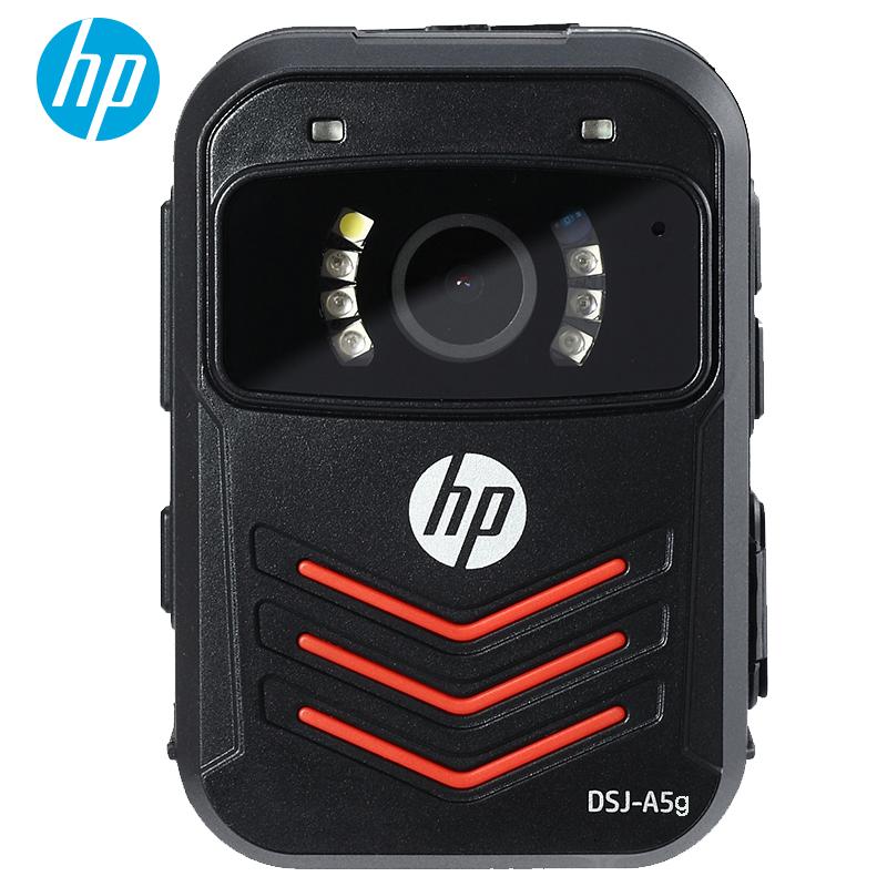 惠普(HP)DSJ-A5G执法记录仪GPS定位1296P高清现场记录仪 内置128G