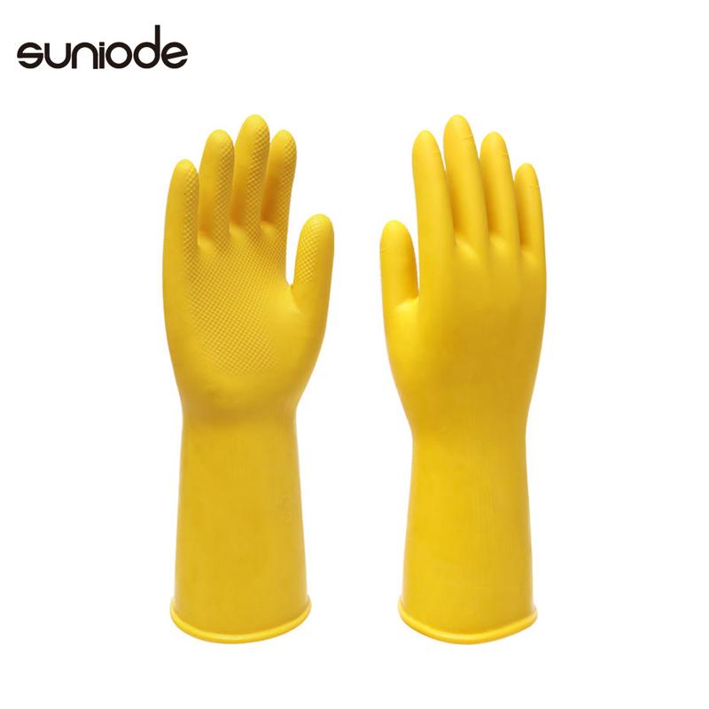 善妮欧德(suniode)橡胶手套L号加厚洗碗耐用家务手套防水加长乳胶皮L号10双/组 (