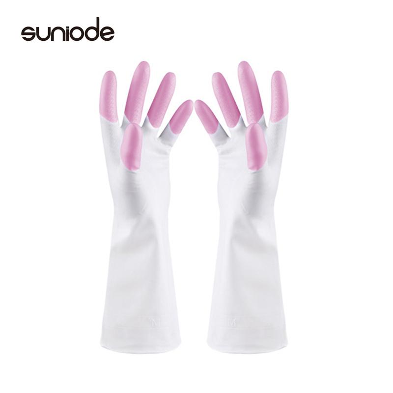 善妮欧德(suniode)橡胶手套彩色手指 均码10双/组耐磨防水食堂洗碗(单位:组)