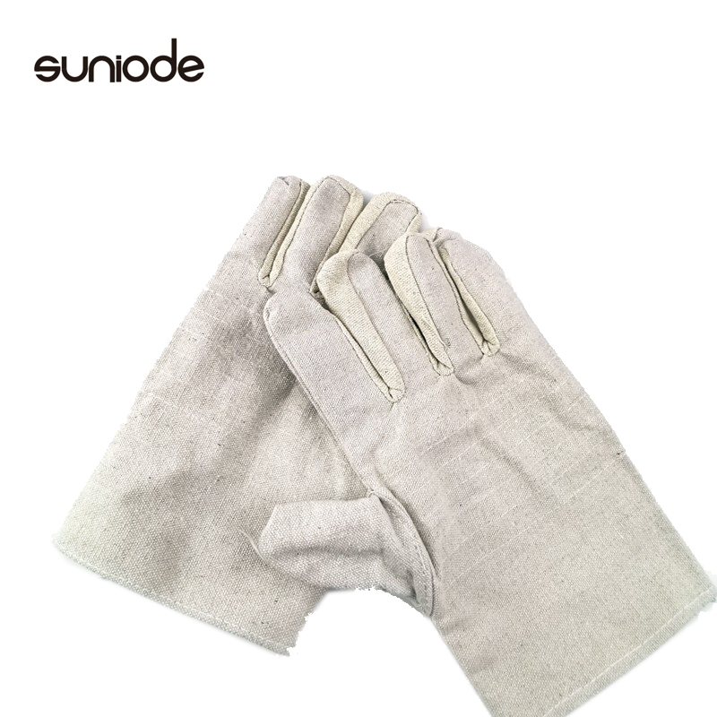 善妮欧德(suniode)24道线黄甲帆布 帆布手套电焊劳保手套 10双/组 劳动防护安全