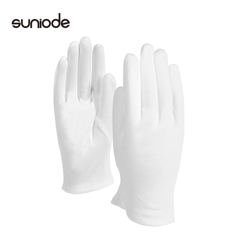 善妮欧德(suniode)白手套礼仪棉布纱线作业接待工作手套 10双/组 (单位:组)